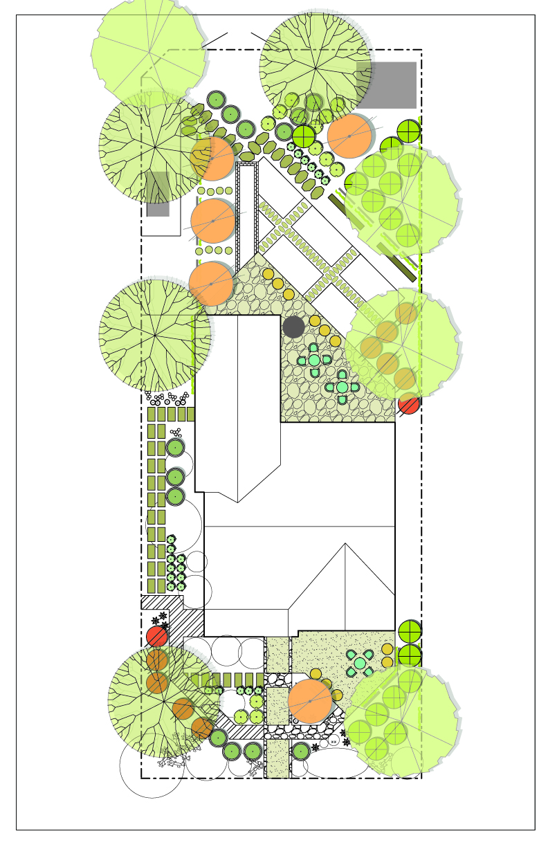 Landscape drawings vs real life construction desert for Garden design vs landscape architecture